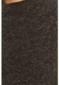 only - Only - Sweter. Okazja: na co dzień. Kolor: czarny. Materiał: dzianina. Długość rękawa: długi rękaw. Długość: długie. Styl: casual