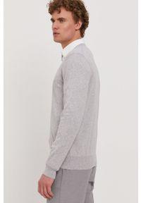 BOSS - Boss - Sweter. Kolor: szary. Materiał: materiał. Długość rękawa: długi rękaw. Długość: długie