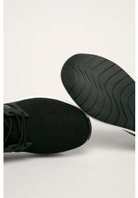 Czarne buty sportowe EA7 Emporio Armani na obcasie, z cholewką, na sznurówki #4