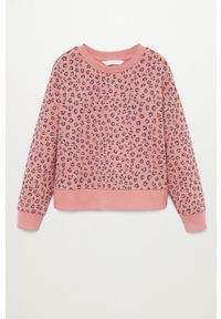 Różowa bluza Mango Kids casualowa, na co dzień