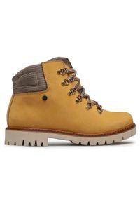 Bartek - Trapery BARTEK - 27764/0P-1DY Żółty. Kolor: żółty. Materiał: skóra, nubuk, materiał. Szerokość cholewki: normalna. Sezon: zima, jesień