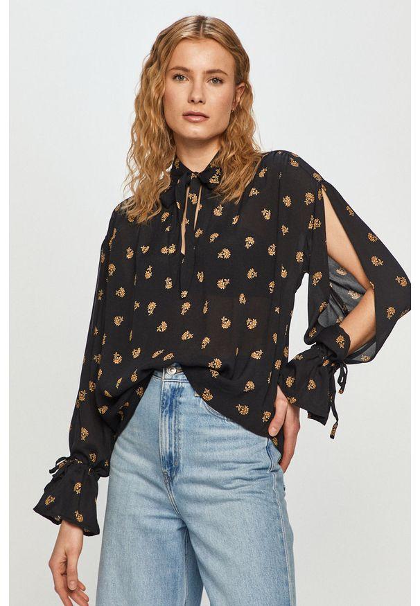 Czarna bluzka Pepe Jeans na co dzień, casualowa