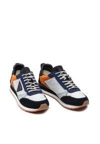 Guess - Sneakersy GUESS - New Glorym FM7NGM ELE12 GREOR. Okazja: na co dzień. Kolor: szary, niebieski, wielokolorowy. Materiał: materiał, zamsz. Szerokość cholewki: normalna. Styl: casual