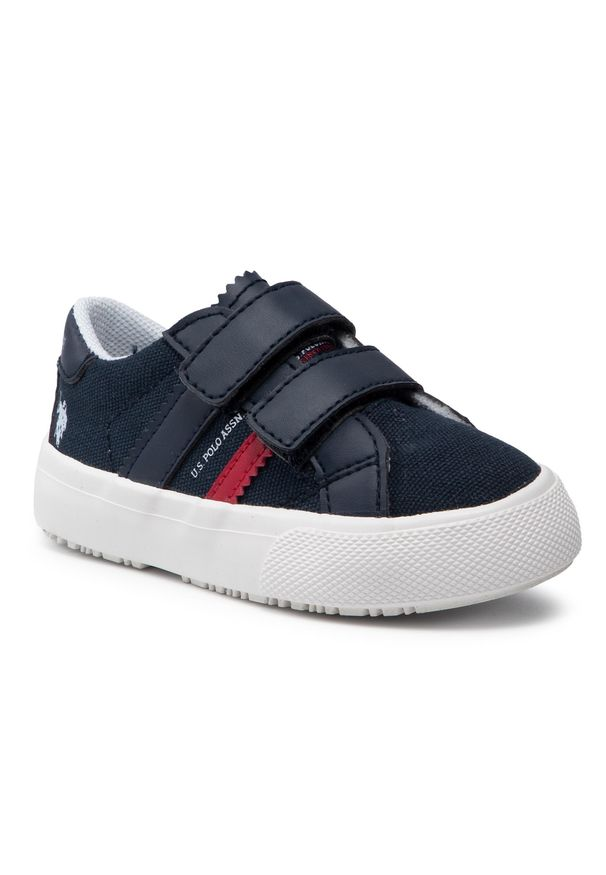 U.S. Polo Assn - Sneakersy U.S. POLO ASSN. - Matry155 MATRY4155S1/CY1 Dkbl. Okazja: na spacer. Zapięcie: rzepy. Kolor: niebieski. Materiał: skóra ekologiczna, materiał. Szerokość cholewki: normalna