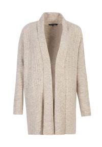 Szary sweter TOP SECRET w kolorowe wzory, długi, na wiosnę, z długim rękawem