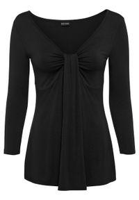 Czarna bluzka bonprix długa, z długim rękawem #6