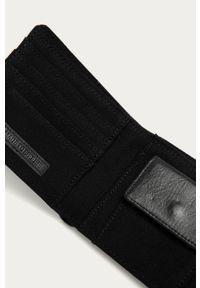 Czarny portfel Element gładki