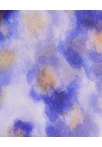 Elisabetta Franchi - ELISABETTA FRANCHI - Sukienka midi w kwiaty. Okazja: na imprezę. Kolor: niebieski. Długość rękawa: bez ramiączek. Wzór: kwiaty. Sezon: lato. Długość: midi #2