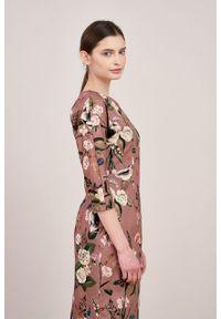 Marie Zélie - Sukienka Milena Carnation. Materiał: materiał, wiskoza, bawełna, elastan. Typ sukienki: proste