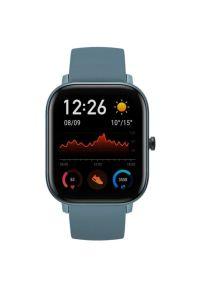 Niebieski zegarek AMAZFIT elegancki, smartwatch
