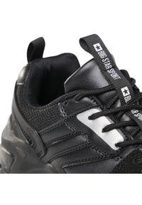 Czarne buty sportowe Big-Star z cholewką, na płaskiej podeszwie