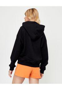 JENESEQUA - Bawełniana bluza z kapturem. Okazja: na spacer. Typ kołnierza: kaptur. Kolor: czarny. Materiał: bawełna. Wzór: haft. Styl: klasyczny