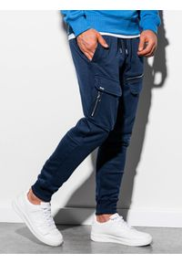 Niebieskie spodnie Ombre Clothing