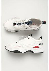 Białe sneakersy Hugo na sznurówki, z cholewką, z okrągłym noskiem