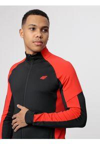 Czarna bluza rozpinana 4f raglanowy rękaw