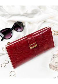 MILANO DESIGN - Portfel damski czerwony Milano Design K1211-SN-7275 RED. Kolor: czerwony. Materiał: skóra ekologiczna