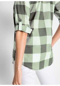 Zielona tunika bonprix długa, z długim rękawem
