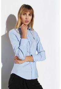 Niebieska koszula Edward Orlovski elegancka, długa