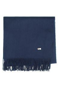 Niebieski szalik Wittchen na uczelnię, na zimę