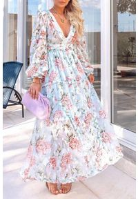 Wielokolorowa długa sukienka IVET na co dzień, casualowa
