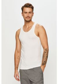 Biały t-shirt Calvin Klein Underwear na co dzień, bez rękawów
