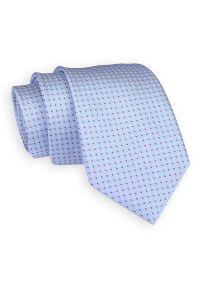 Niebieski krawat Angelo di Monti w grochy, elegancki