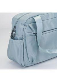 Wittchen - Torba podróżna z nylonu mała. Kolor: niebieski. Materiał: nylon