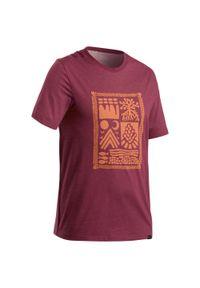 quechua - Koszulka turystyczna męska z krótkim rękawem Quechua NH500. Materiał: bawełna, poliester, materiał, elastan. Długość rękawa: krótki rękaw. Długość: krótkie. Wzór: ze splotem