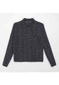Cropp - Wzorzysta koszula - Czarny. Kolor: czarny