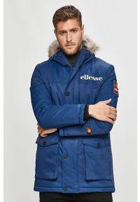 Niebieska kurtka Ellesse na co dzień, casualowa, z kapturem