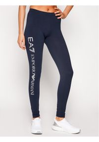 Niebieskie legginsy EA7 Emporio Armani