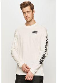 Biała koszulka z długim rękawem Element z motywem z bajki, casualowa