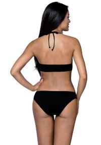 Czarny strój kąpielowy dwuczęściowy Lorin z odpinanymi ramiączkami