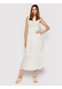 Rinascimento Sukienka letnia CFC0103535003 Biały Regular Fit. Kolor: biały. Sezon: lato