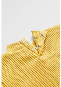 Żółta bluzka z długim rękawem Mango Kids casualowa, na co dzień, długa