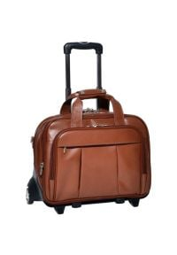 Torba na laptopa MCKLEIN Damen 17 cali Brązowy. Kolor: brązowy. Materiał: skóra, materiał. Styl: klasyczny, elegancki, retro