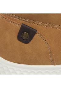 Brązowe buty zimowe Sprandi z cholewką, casualowe, na co dzień