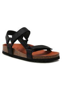 Czarne sandały Scholl casualowe, na co dzień