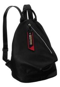 DAVID JONES - Plecak damski czarny David Jones CM6008 BLACK. Kolor: czarny. Materiał: skóra ekologiczna