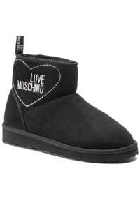 Love Moschino - Buty LOVE MOSCHINO - JA21023H1BIS0000 Nero. Kolor: czarny. Materiał: materiał. Wzór: aplikacja