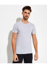 Lacoste - LACOSTE - T-shirt z logo 3-pack Slim Fit. Kolor: szary. Materiał: bawełna