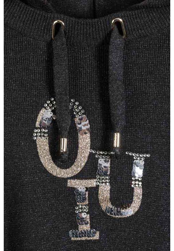 Szary sweter Mayoral na co dzień, casualowy, z kapturem, z aplikacjami
