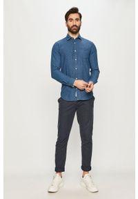 Niebieska koszula Premium by Jack&Jones na co dzień, klasyczna, długa