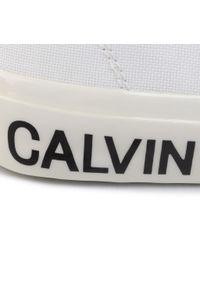 Białe półbuty Calvin Klein Jeans z cholewką, casualowe, na co dzień