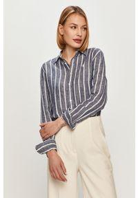 Niebieska koszula Polo Ralph Lauren na co dzień, polo, długa, casualowa