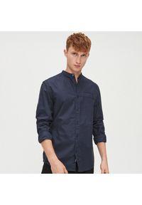 Niebieska koszula Cropp ze stójką