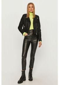 Czarna kurtka Guess Jeans na co dzień, bez kaptura