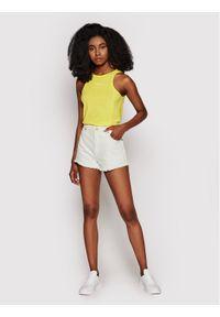 Calvin Klein Jeans Top J20J216276 Żółty Skinny Fit. Kolor: żółty