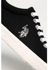 U.S. Polo Assn. - Tenisówki. Nosek buta: okrągły. Zapięcie: sznurówki. Kolor: czarny. Materiał: guma