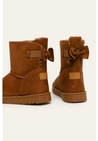 Cross Jeans - Śniegowce. Nosek buta: okrągły. Kolor: brązowy. Materiał: guma